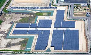 大阪府 恩智川治水緑地池島二期地区太陽光発電所
